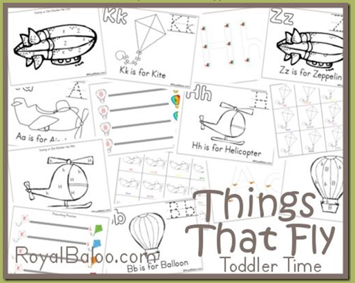 Free Toddler Time Things That Fly Printable Pack Money Saving Mom