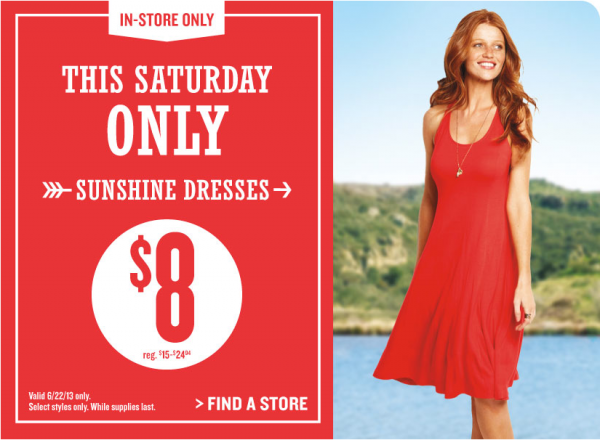 Old Navy: $8 Sunshine Dress Sale (Saturday in-store only)