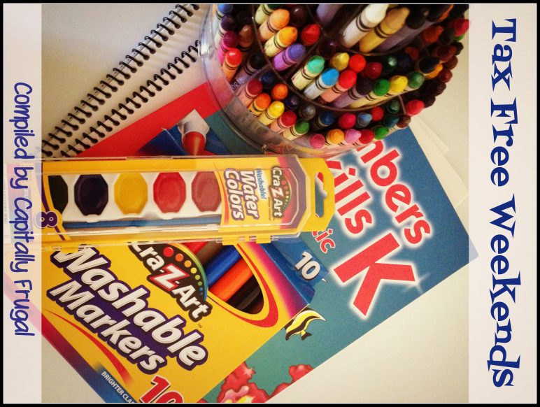 Back-to-School Tax-Free Weekends in August 2013