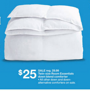 Target: Room Essentials Down Blend Comforters for $15.94 (after coupons)