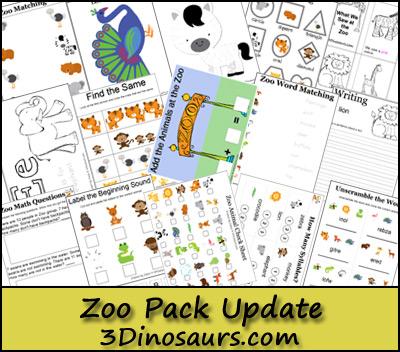 Free Zoo Printable Pack