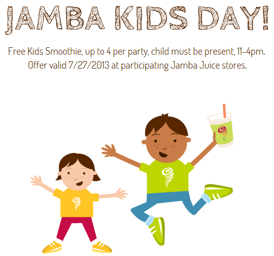 Jamba Juice: Free Kids Smoothie on July 27th