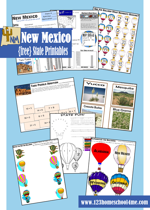 Free New Mexico Printable Pack