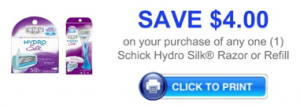 Schick razor coupon
