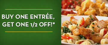 Olive Garden Buy One Entree Get One Half Off Coupon Money Saving Mom