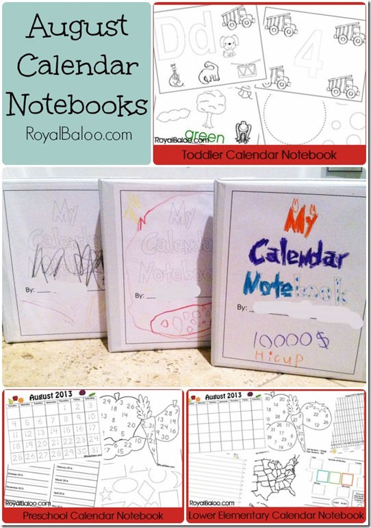 Kindergarten Calendar Notebook : Free printable calendar notebook pages toddler preschool