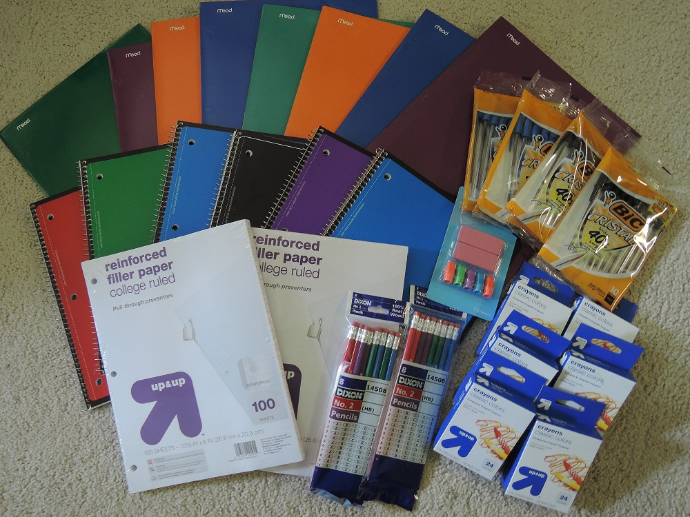 Donating 30 School Supplies for Less Than $5