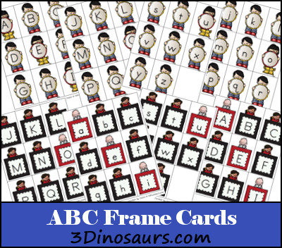 Free ABC Frame Cards
