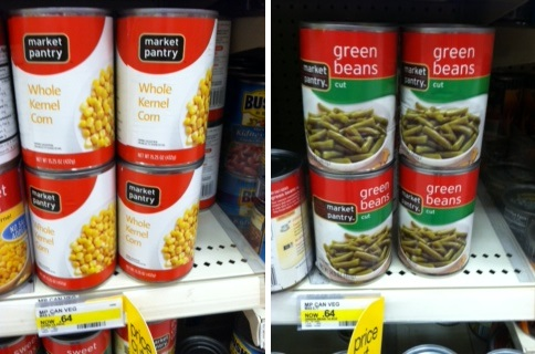 Target: Market Pantry Canned Vegetables for as low as $0.51 after coupons