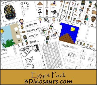 Free Tot-First Grade Egypt Printable Pack
