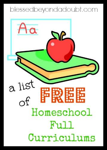 FREE Full Homeschool Curriculums