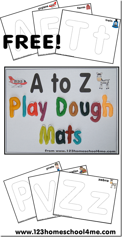 This is a picture of Breathtaking Free Printable Playdough Mats