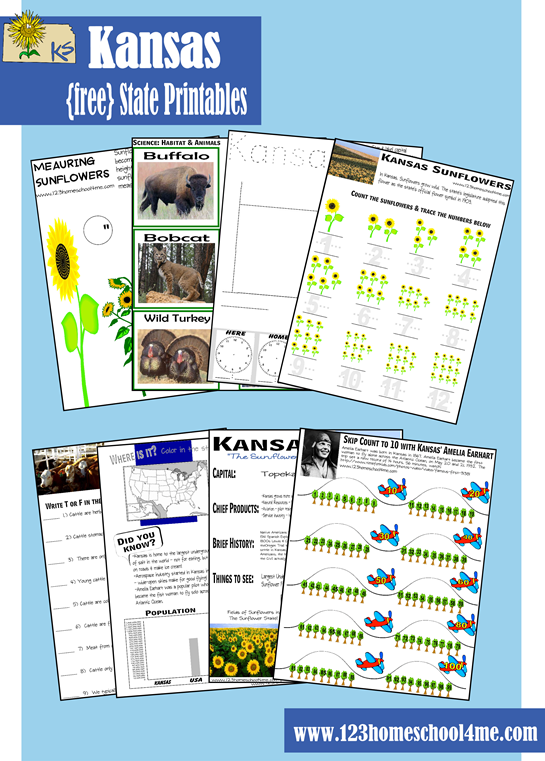 Free Kansas Early Learning Printable Pack