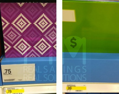 Target: Free Mead Portfolios (after coupons)