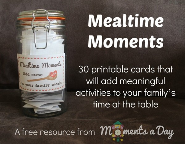 Free Mealtime Moments Printable Activity Cards