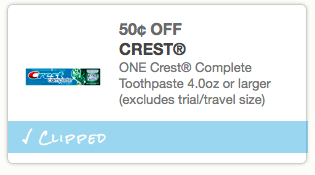 image relating to Crest Printable Coupons referred to as Printable coupon codes: Crest Toothpaste, Gray Poupon Mustard