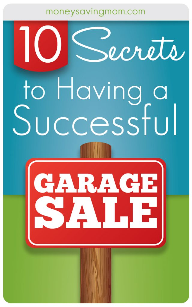 10 Secrets to Having a Successful Garage Sale