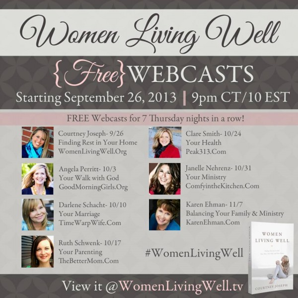Free Women Living Well Webcasts Every Thursday Evening For
