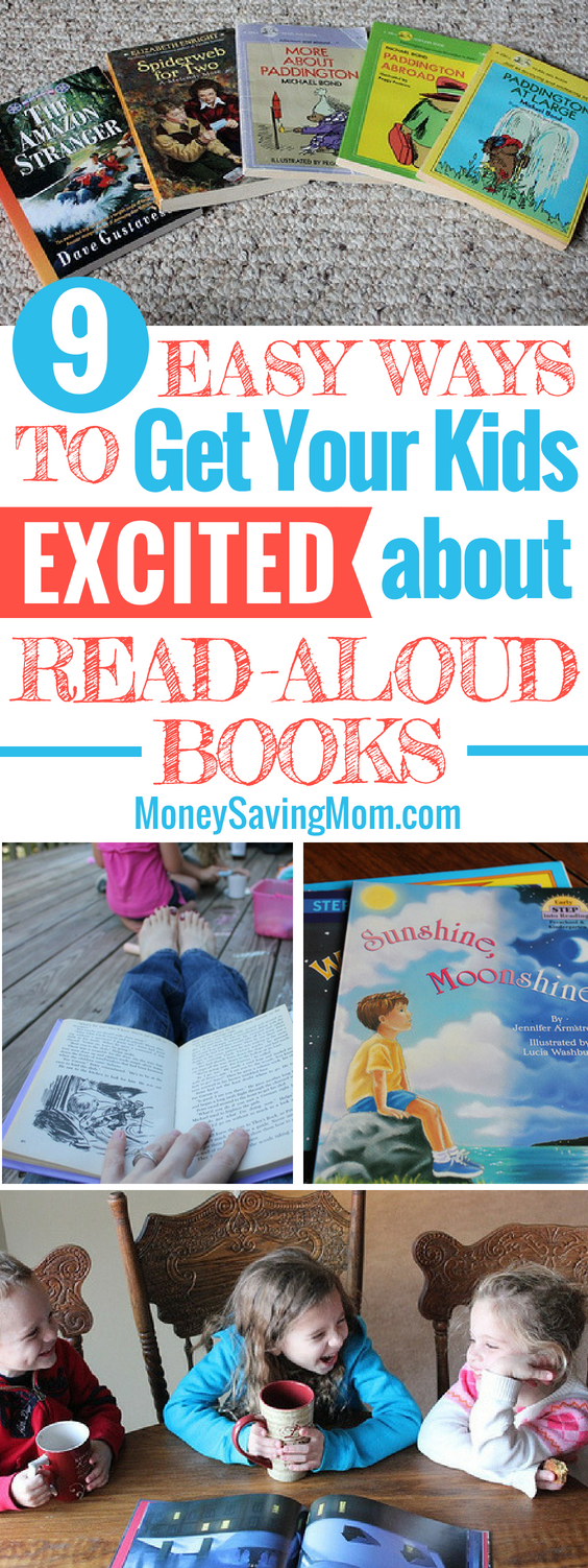 Get your kids excited about read-aloud books with these 9 simple and practical tips! These are SO helpful!!