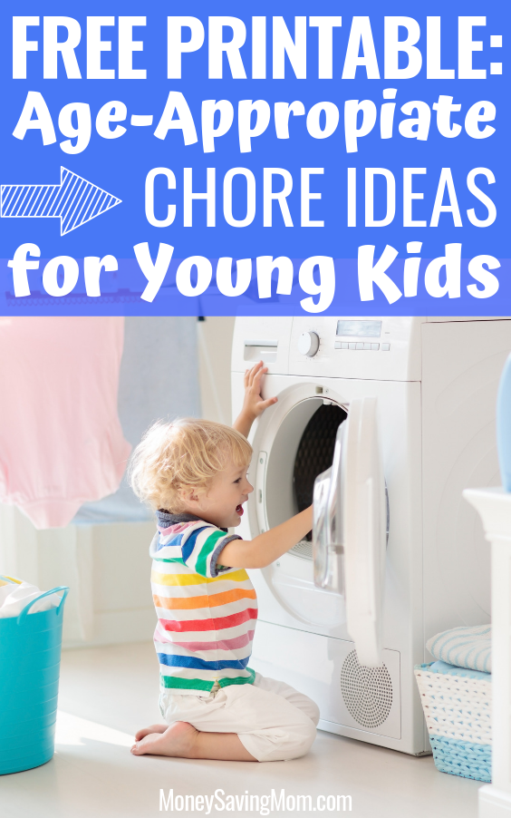 Free Printable Age Appropriate Chore Ideas for Kids