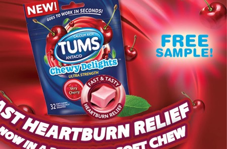 Free Sample of Tums Chewy Delight