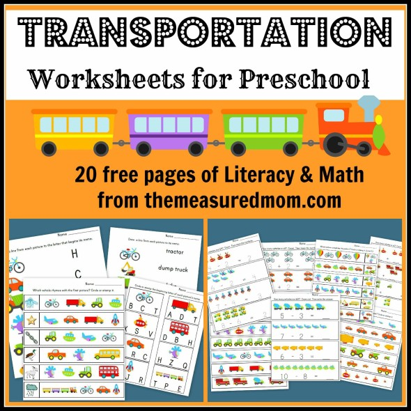 Free Printable Transportation Worksheets for Preschool
