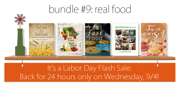 Get the Real Food ebook bundle for just $7.40 today only!