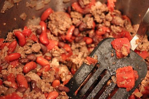 preparing taco meat