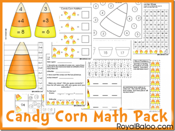 Free Cnady Corn Math Printable Pack