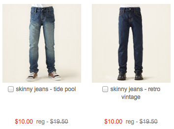 Kid's Jeans for $8 shipped at The Children's Place