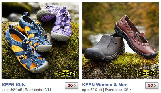 KEEN and Under Armour Sales on Zulily