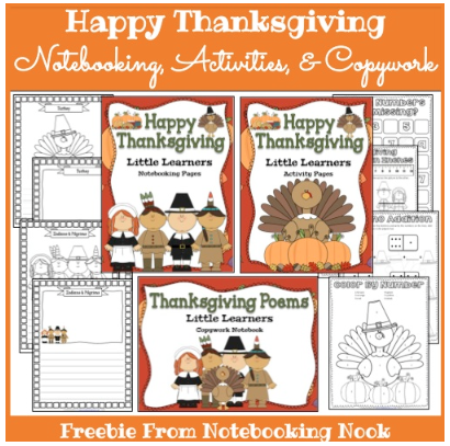 free thanksgiving notebooking pages activity pages and