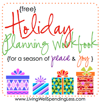 Free Holiday Planning Workbook