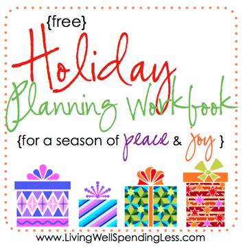 Free Holiday Planning Workbook