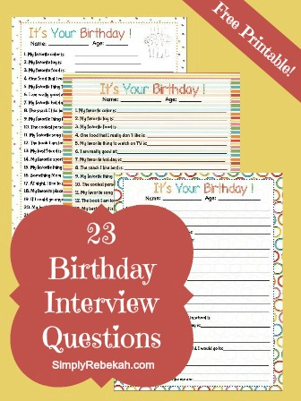 free printable birthday interview question worksheets money saving mom. Black Bedroom Furniture Sets. Home Design Ideas