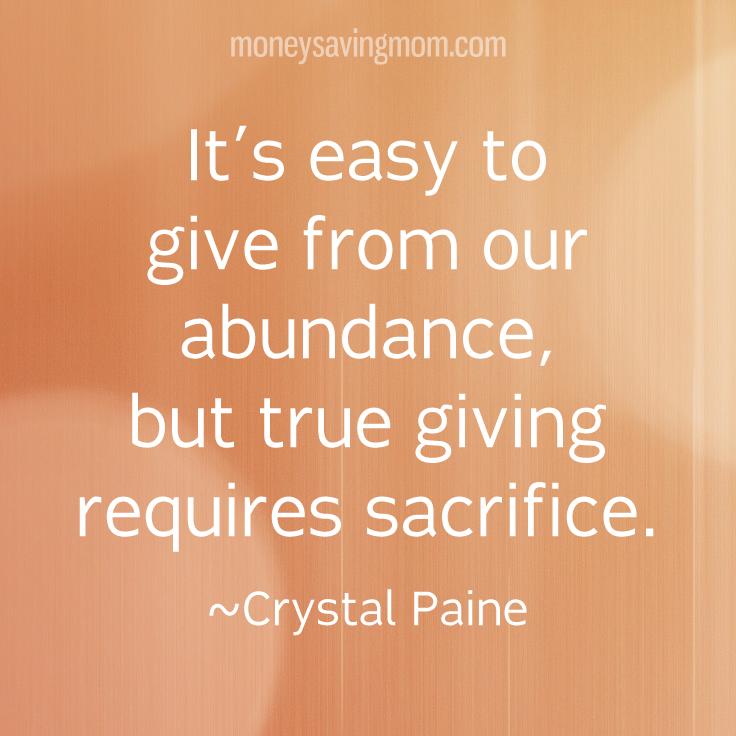 more-generosity