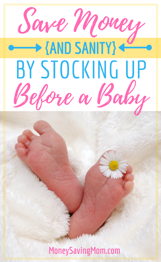 Save money and sanity by stocking up on essentials before your baby arrives! This post is a MUST-READ!!