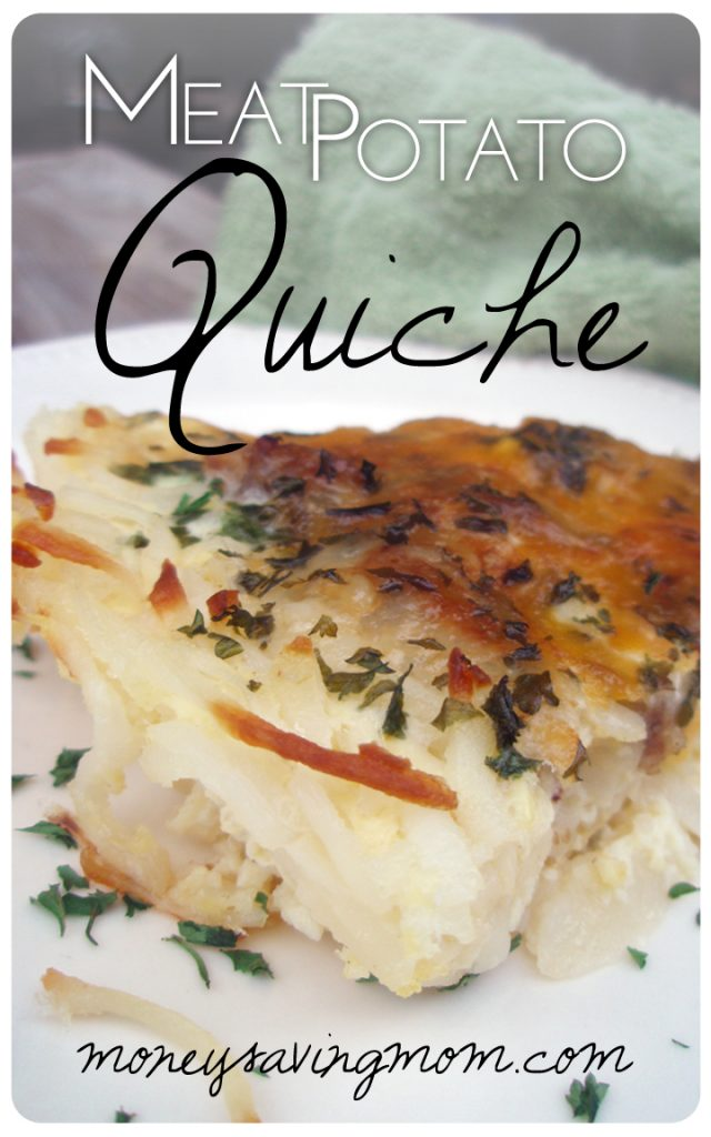 Meat Potato Quiche - Money Saving Mom®