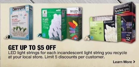 $5 off LED Lights at Home Depot