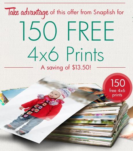 150 Free 4x6 Prints