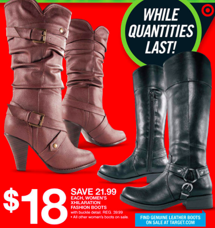 18cce2847a7 Target  Ladies  Exhilaration Fashion Boots just  15.50 after coupon ...