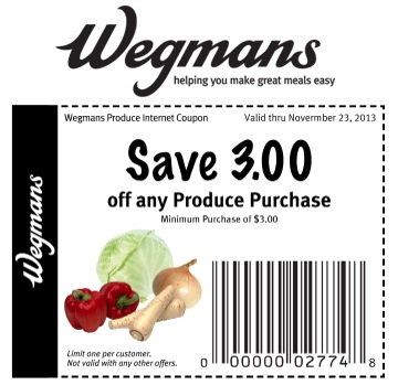 photograph regarding Wegmans Printable Coupon identify Wegmans: $3 off Coupon for invest in of $3 or additional inside of generate