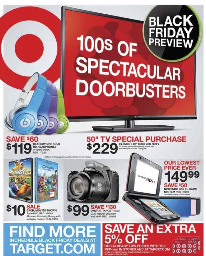 Target Black Friday Ad 2013