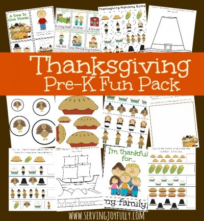 Thanksgiving Pre-K Fun Pack
