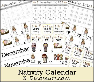 Nativity Calendar Cards