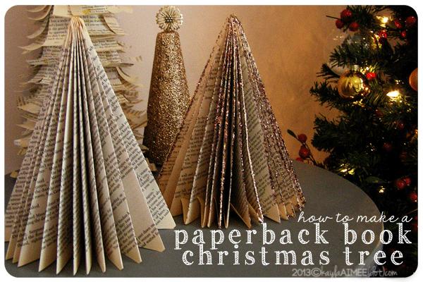 paperbackbookchristmastree