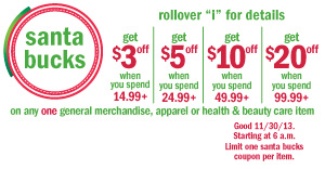 image relating to Meijer Printable Coupons named Meijer mPerks: Santa Dollars Coupon truly worth up toward $20 Economic