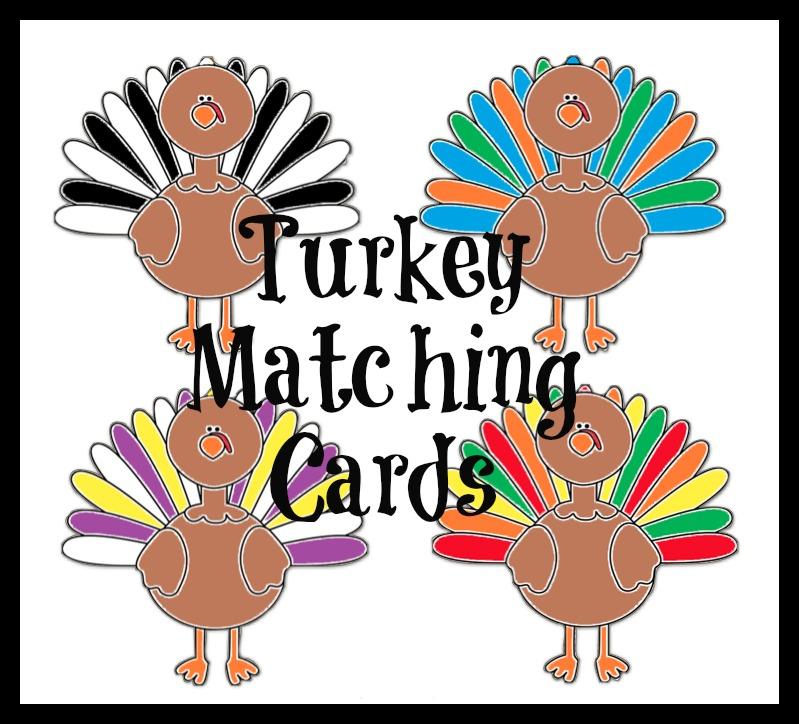 Turkey Matching Cards