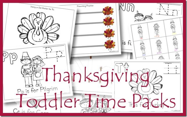 Thanksgiving Toddler Time Printables