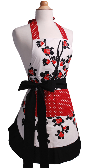 Cherry-Blossom-Womens-Flirty-Apron-Front